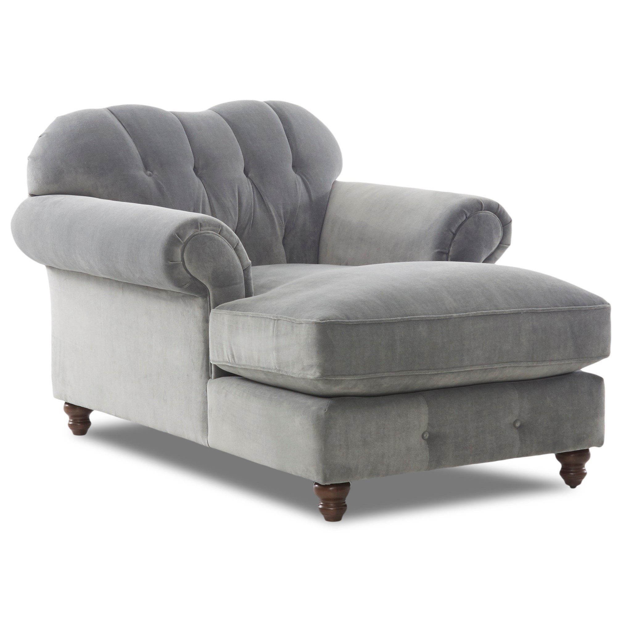 Klaussner Shelby Traditional Sweetheart Back Chaise Lounge With Button  Tufting | Miskelly Furniture | Chaises