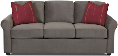 Klaussner Silva Casual Queen Inner Spring Sleeper Sofa with Rolled Arms