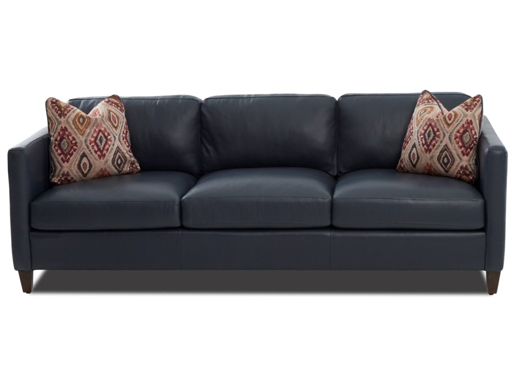 Soho Contemporary 90 Tuxedo Sofa With Pillows By Klaussner