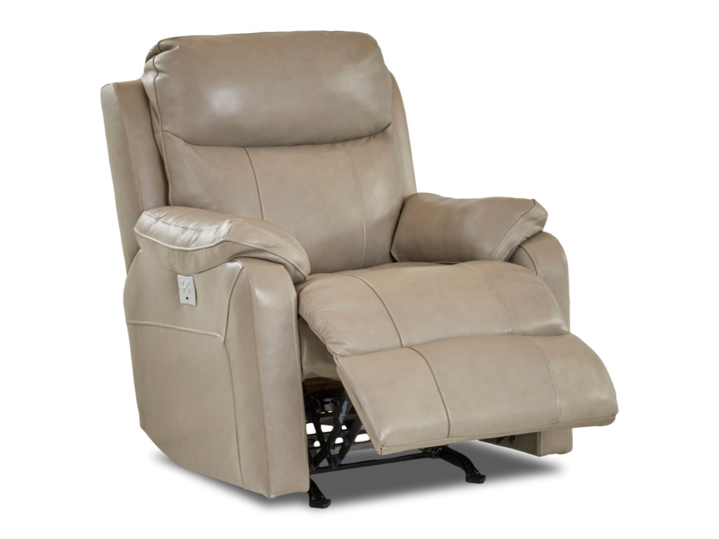 Klaussner SolitairePower Rock Reclining Chair w/ Pwr Head&Lumba