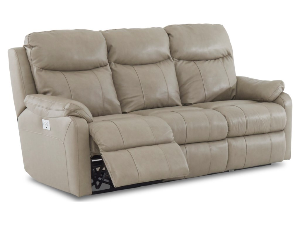 Simple Elegance SolitairePower Reclining Sofa w/ Pwr Headrests