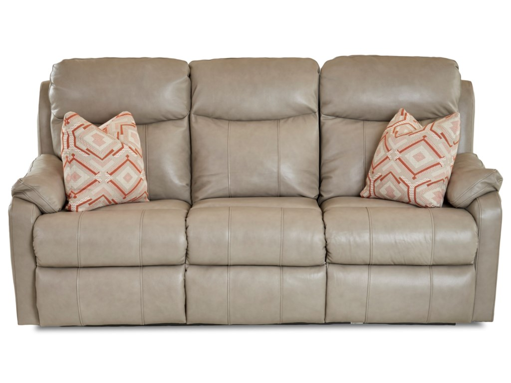 Klaussner SolitairePower Reclining Sofa w/ Pwr Headrests