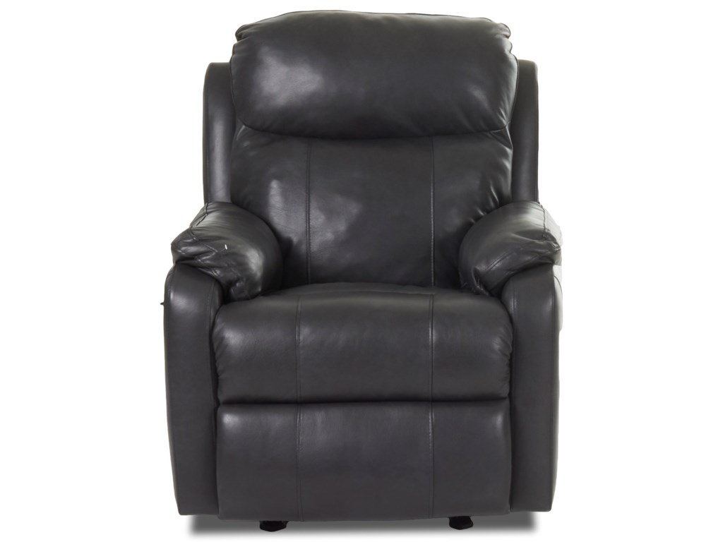 Klaussner SolitairePower Reclining Chair w/ Pwr Head & Lumbar