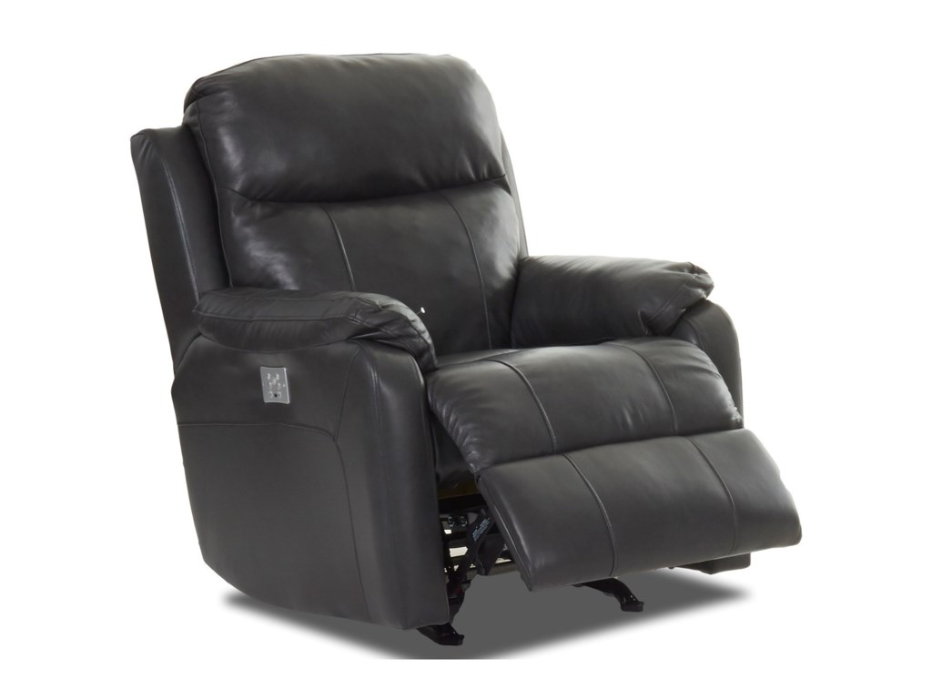 Klaussner SolitairePower Rocking Reclining Chair w/ Pwr Head