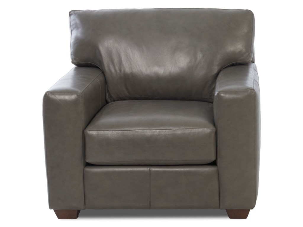 Southport Contemporary Leather Chair By Klaussner