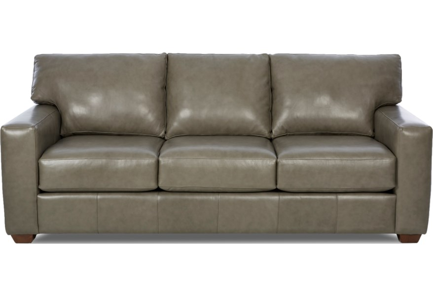 Klaussner Southport Lot68700 S Contemporary Leather Sofa