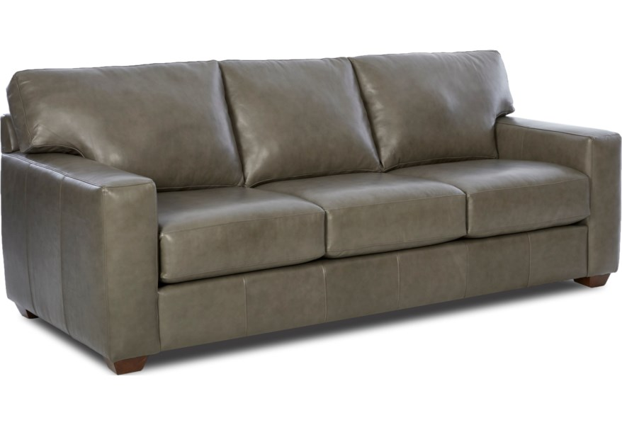 Klaussner Southport Contemporary Leather Sofa Steger S