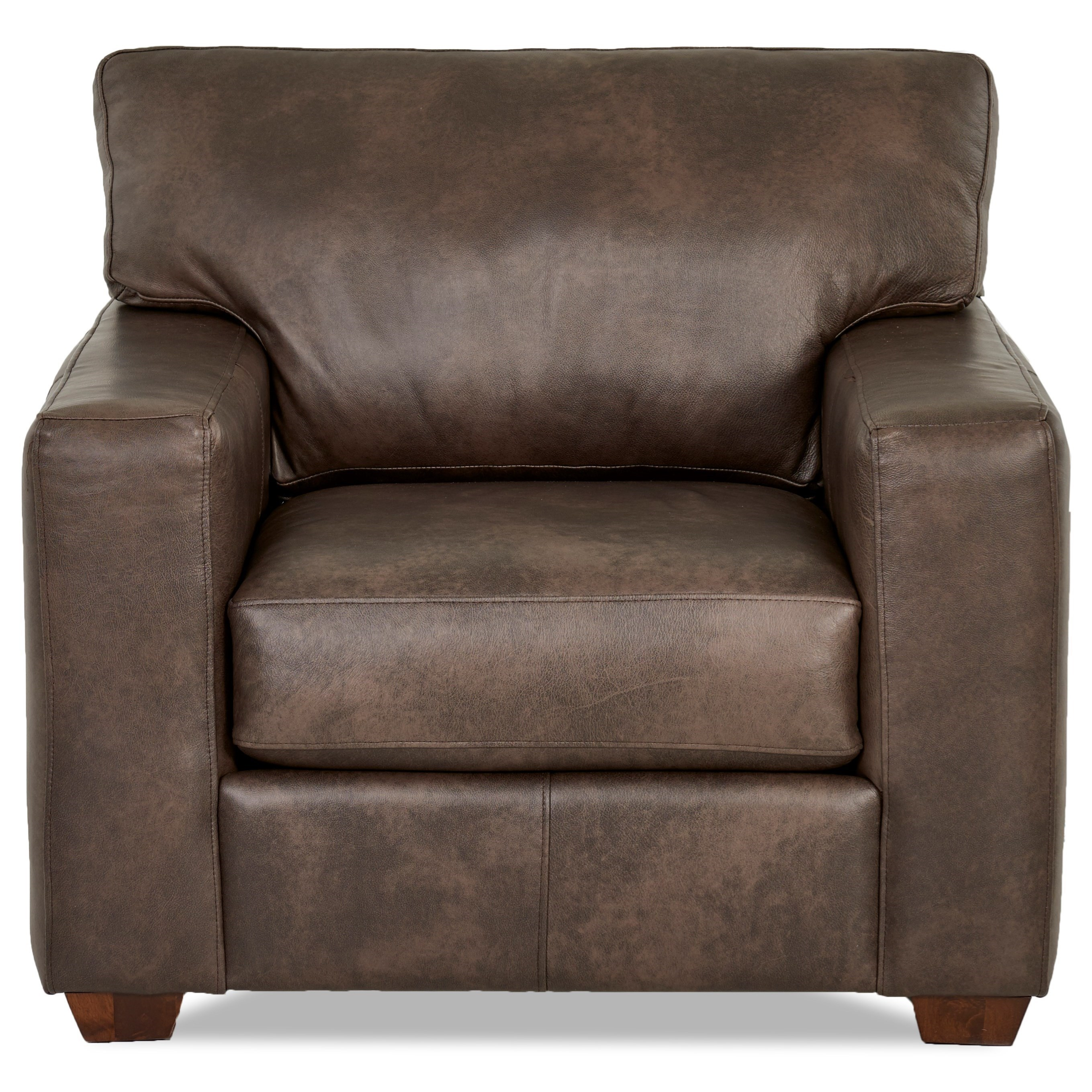 Klaussner Southport Contemporary Leather Chair