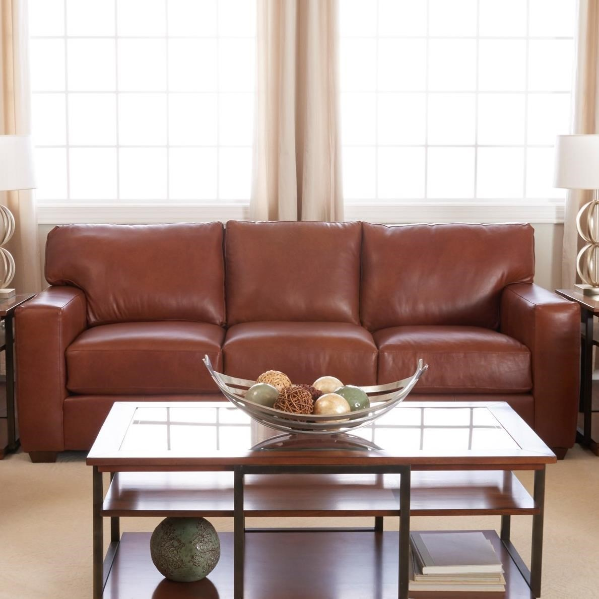 Delicieux Klaussner Southport Contemporary Leather Sofa