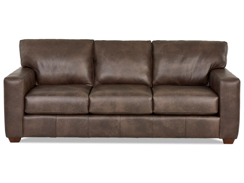 Southport Contemporary Leather Sofa by Klaussner at Wayside Furniture