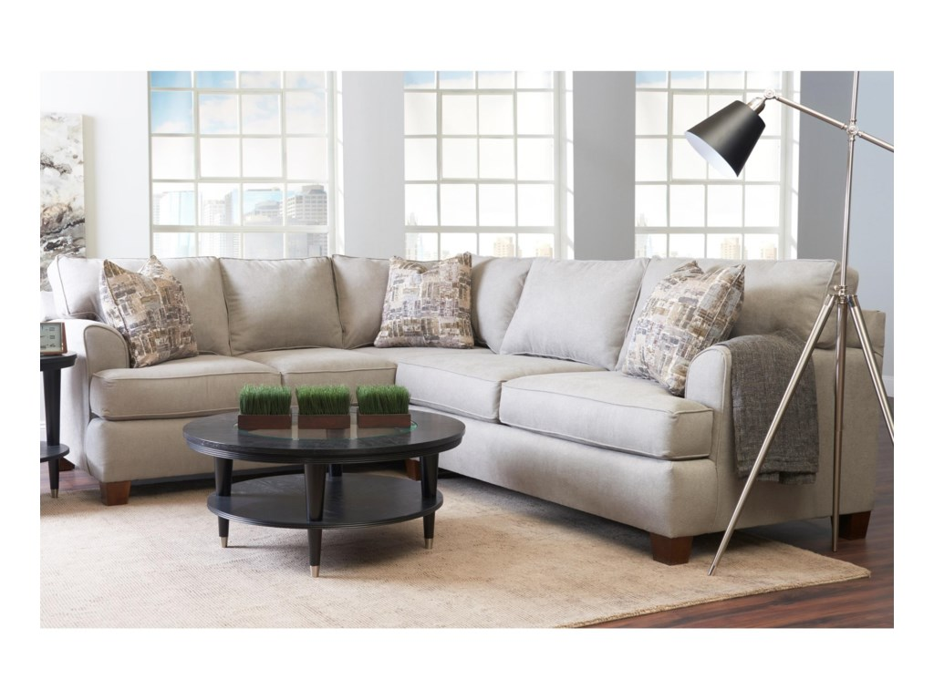 Sparks casual 2 piece sectional with right facing love seat by klaussner