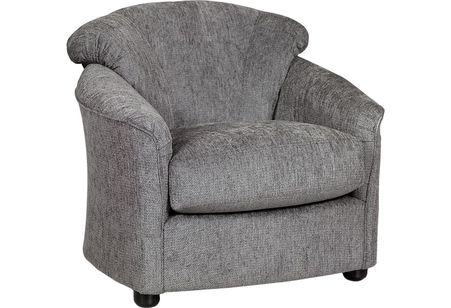 Klaussner Swivel 12 C Upholstered Chair With Low Profile Arms Northeast Factory Direct Upholstered Chairs