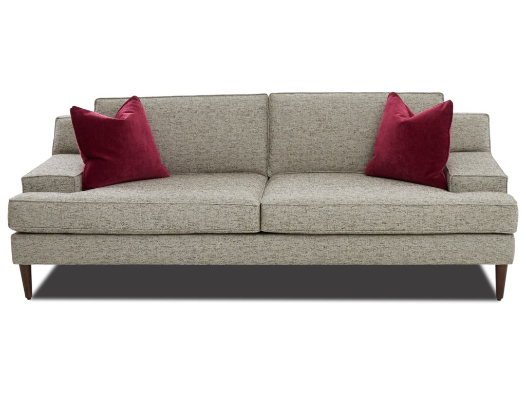 Klaussner Talon K47900 S Mid Century Modern Sofa With Wide