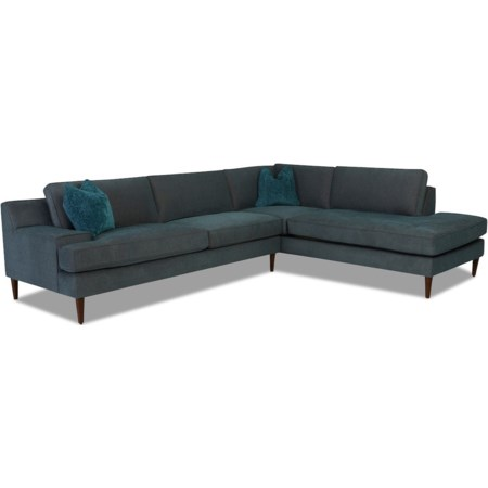 3-Seat Chaise Sectional w/ RAF Sofa Chaise