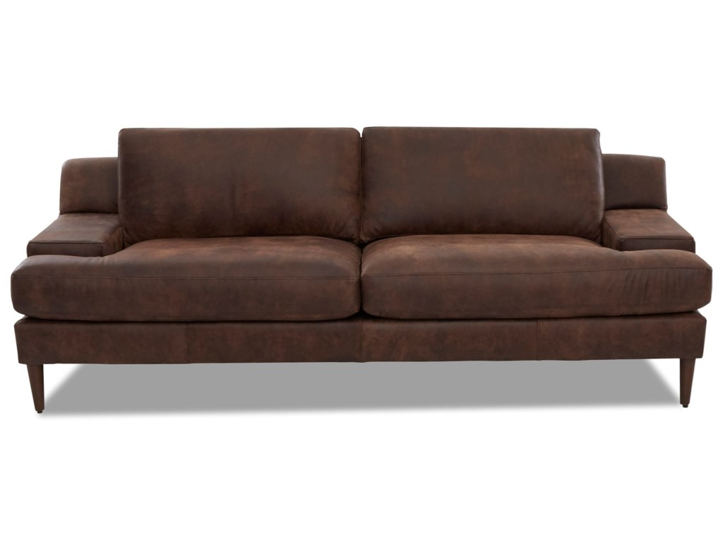 Belfort Basics Carter Mid Century Modern Sofa With Wide