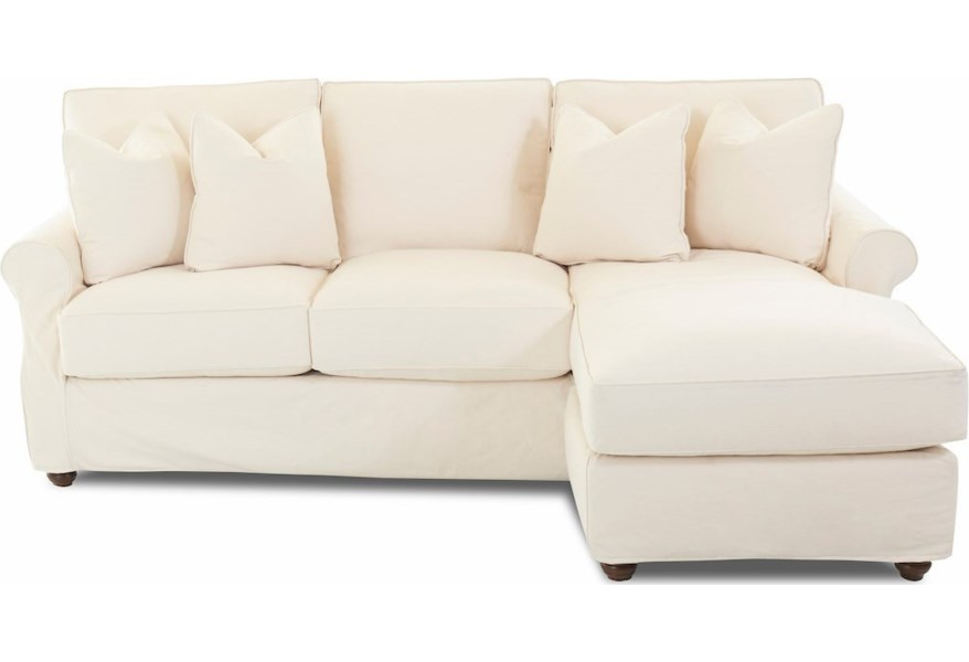 Tifton 2 Pc Slipcover Sectional Sofa w/ RAF Chaise