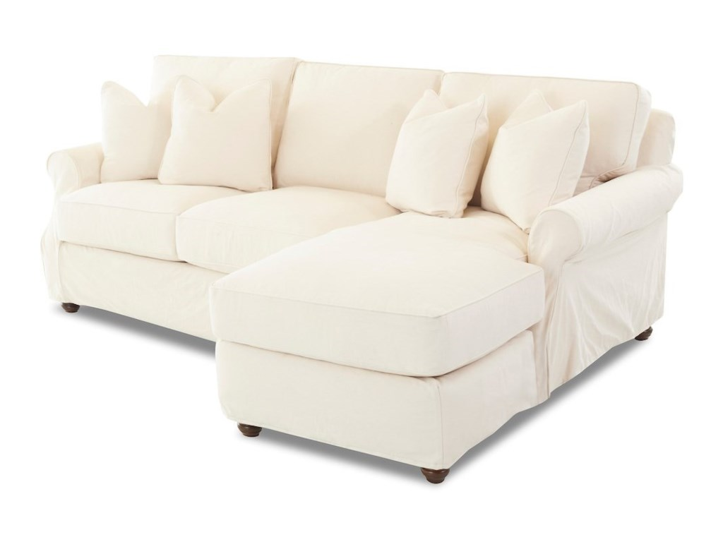 Tifton 2 Pc Slipcover Sectional Sofa W Raf Chaise