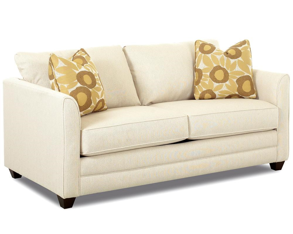 - Klaussner Tilly Small Sleeper Sofa With Full Size Mattress