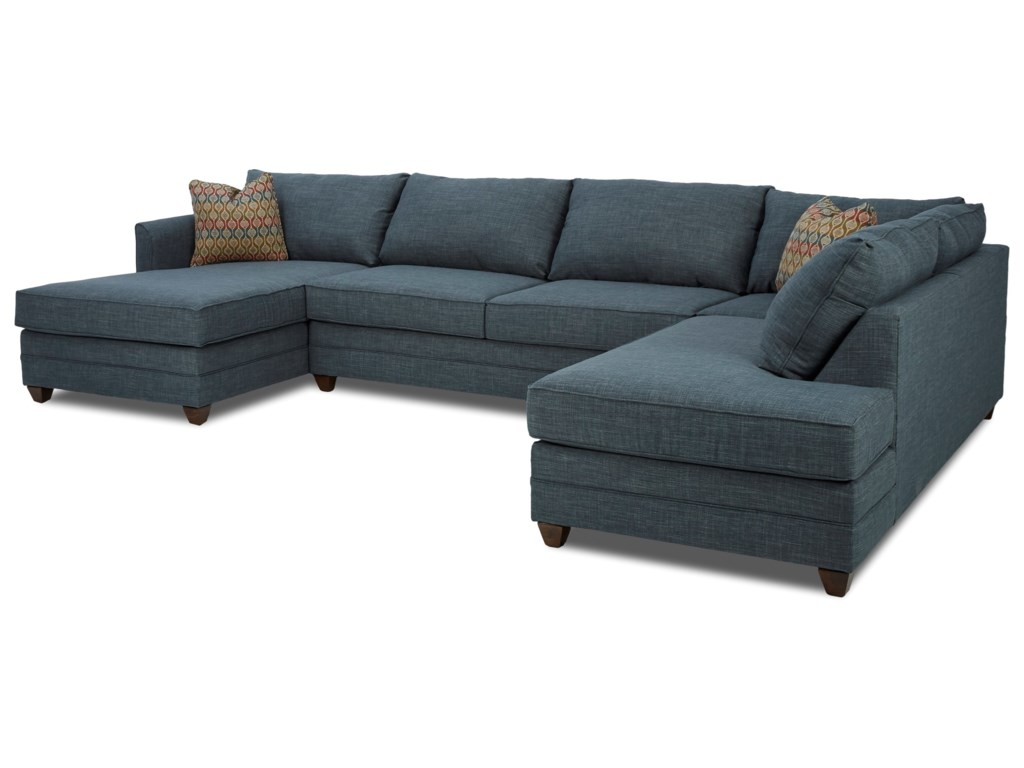 Klaussner Tilly3 Pc Sectional Sofa w/ LAF Chaise
