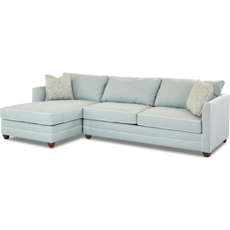 2 Pc Sectional Sofa w/  RAF Enso Sleeper
