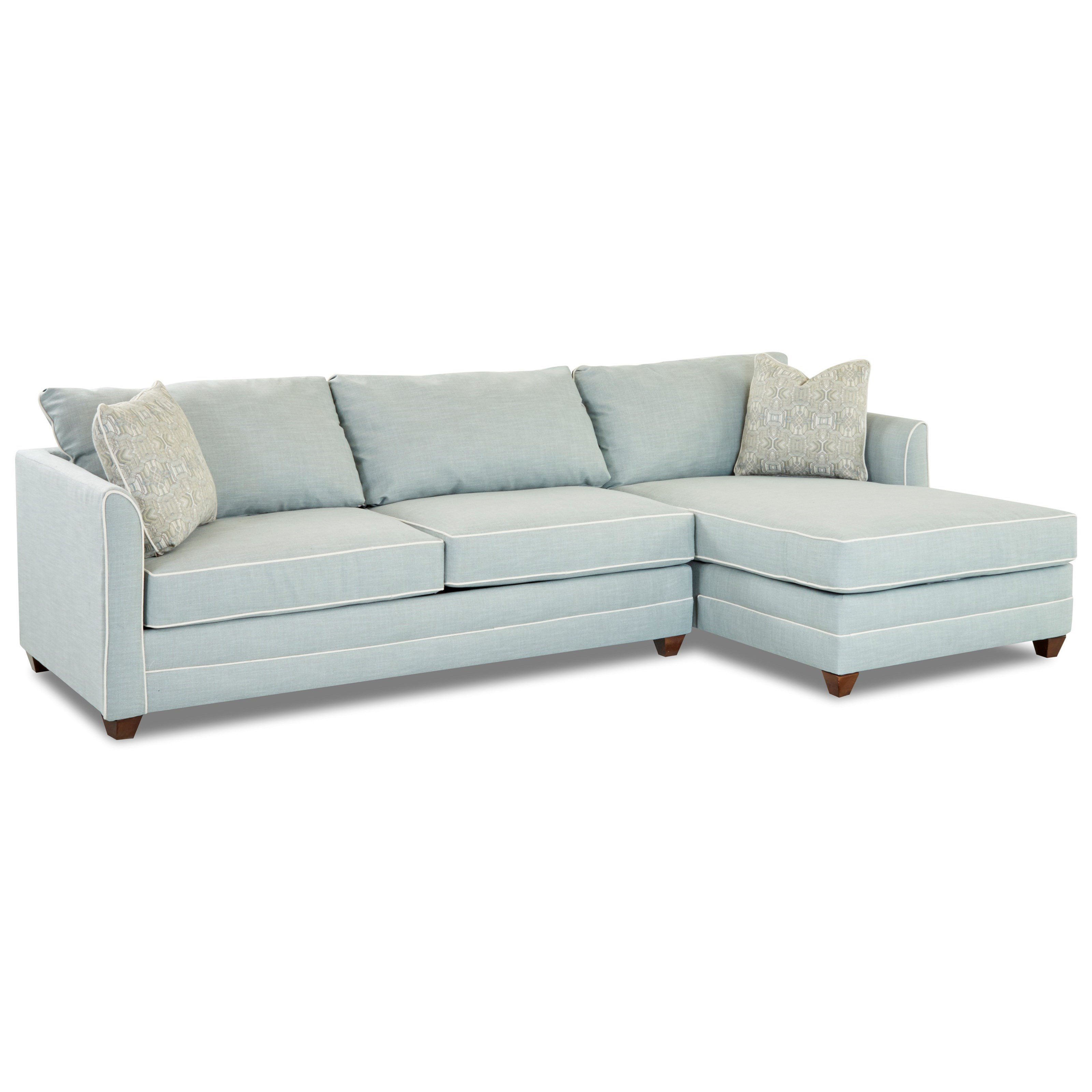 - Klaussner Tilly Two Piece Sectional Sofa With LAF Sleeper Sofa And