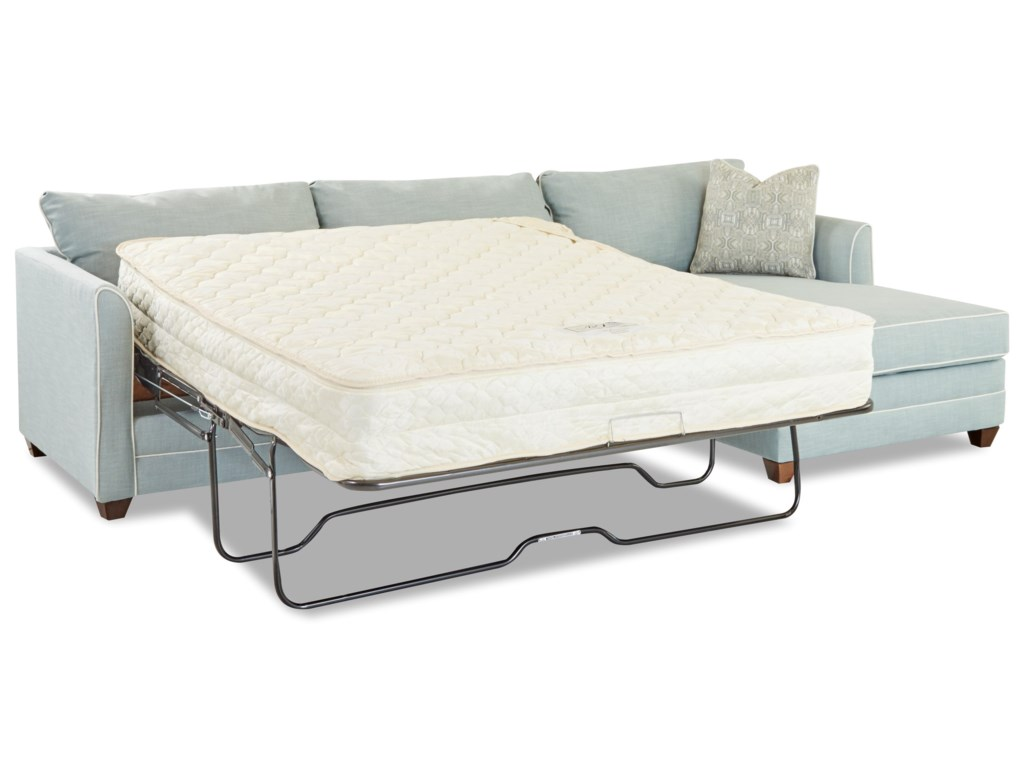 Klaussner Tilly2 Pc Sectional Sofa w/  LAF Enso Sleeper