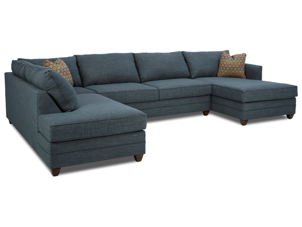Klaussner Tilly3 Pc Sectional Sofa w/ RAF Chaise