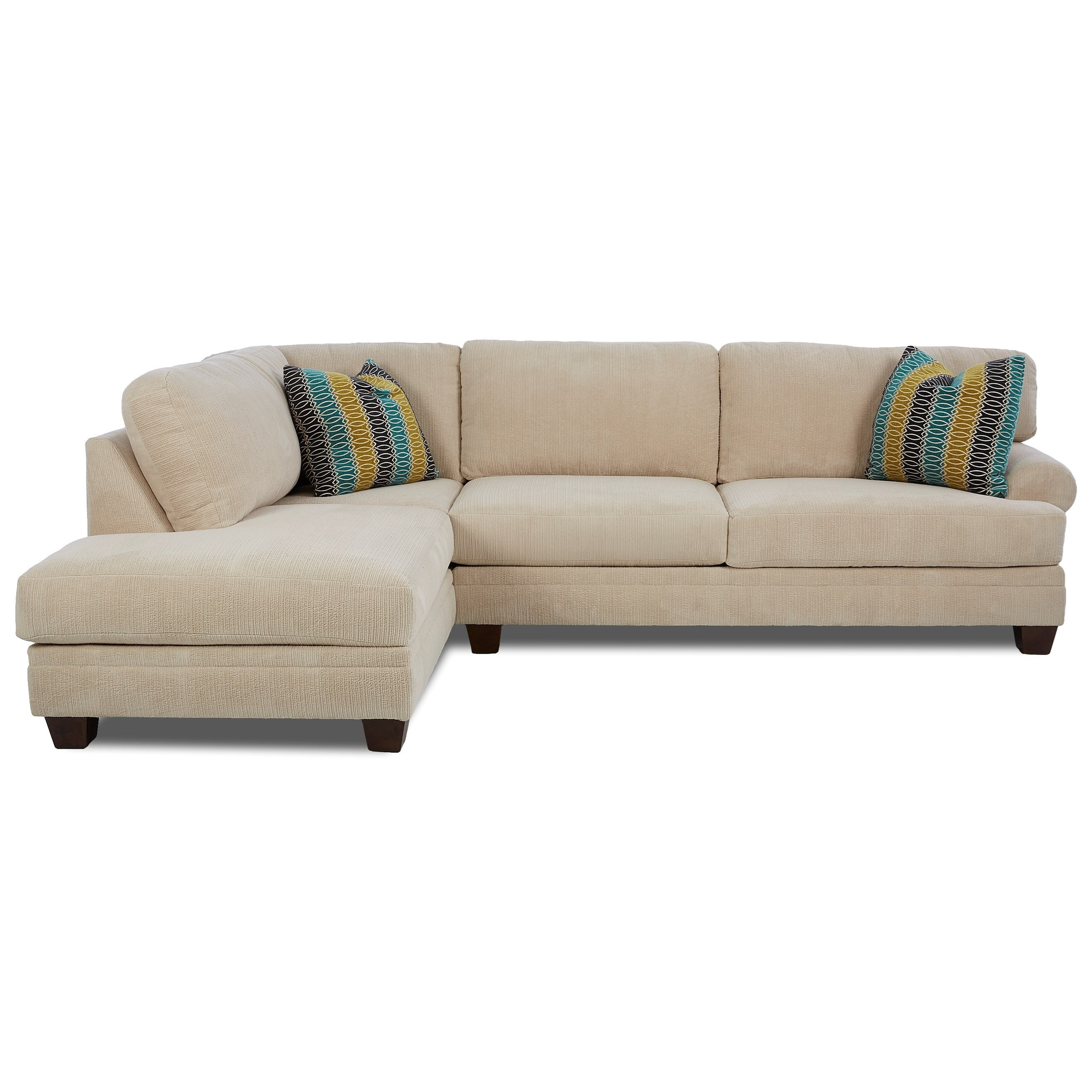 Klaussner Tinley Two Piece Sectional Sofa With LAF Sofa Chaise