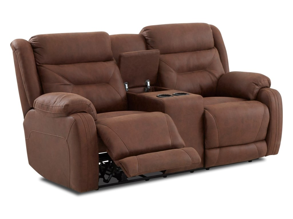 Klaussner TonyPower Reclining LS w/console & Pwr Headrests