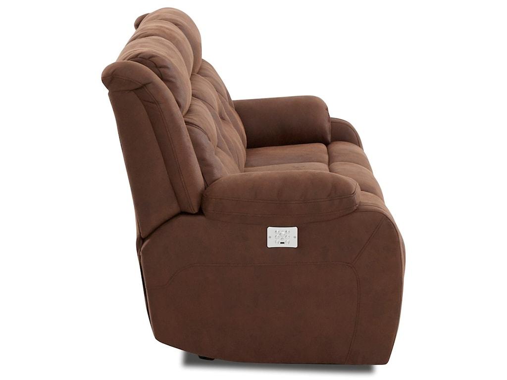 Klaussner TonyPower Reclining Sofa w/ Pwr Head & Lumbar