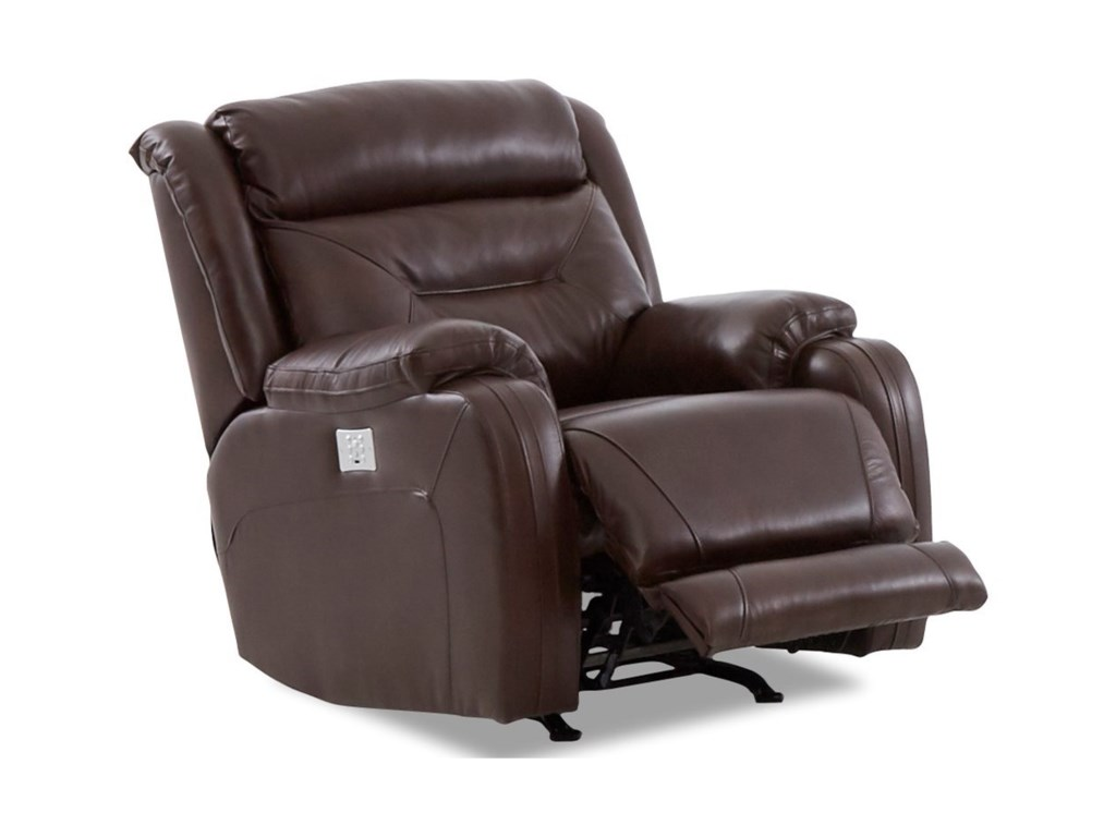 Klaussner TonyPwr Rock Reclining Chair w/ Pwr Head/Lumba