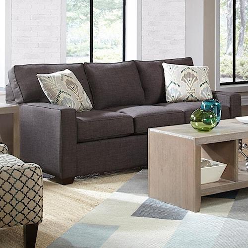 Belfort Basics Choices Custom Upholstery Casual Sofa with Track Arm