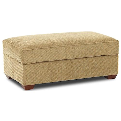 Belfort Basics Choices Custom Upholstery Rectangular Cocktail Storage Ottoman