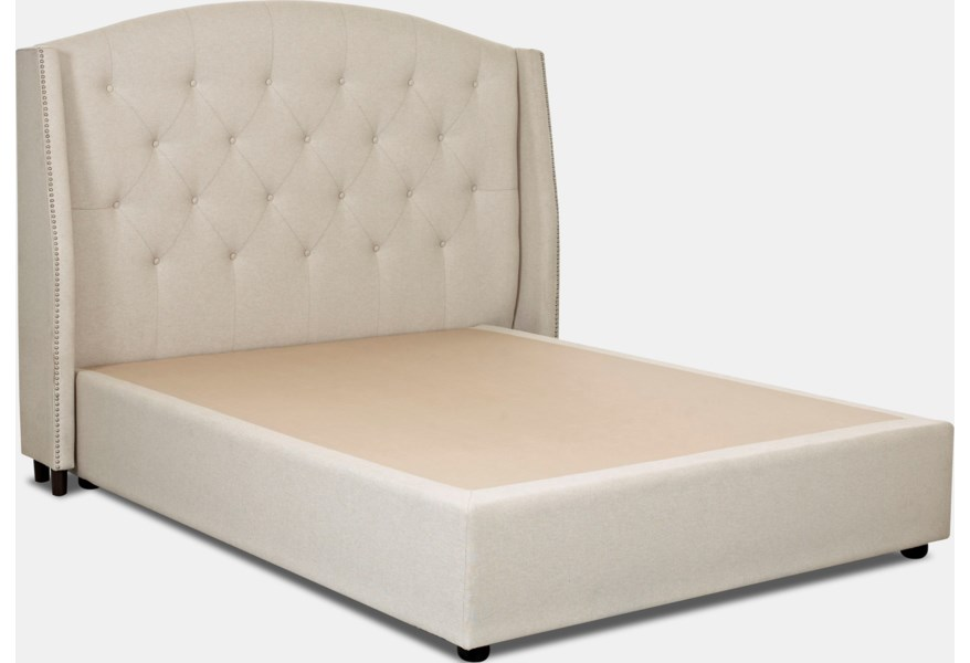 Klaussner Upholstered Beds And Headboards 188 066 Hdbrd Harvard King Size Upholstered Headboard With Nailheads Hudson S Furniture Headboards