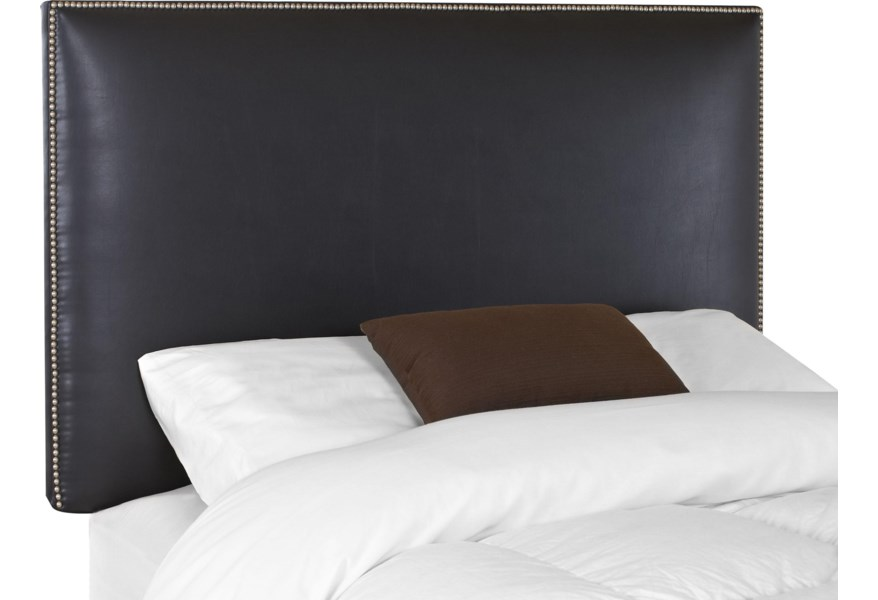 Klaussner Upholstered Beds And Headboards 24710 066 Hdbrd Glade King Upholstered Headboard With Nail Head Trim Hudson S Furniture Headboards