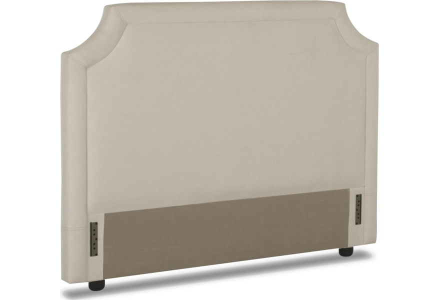 Queen Upholstered Headboard With Tufted Trim