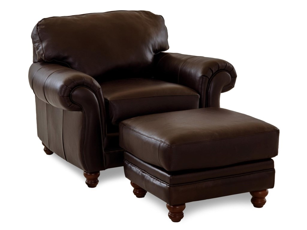 Simple Elegance ChelseaLeather Roll Arm Chair