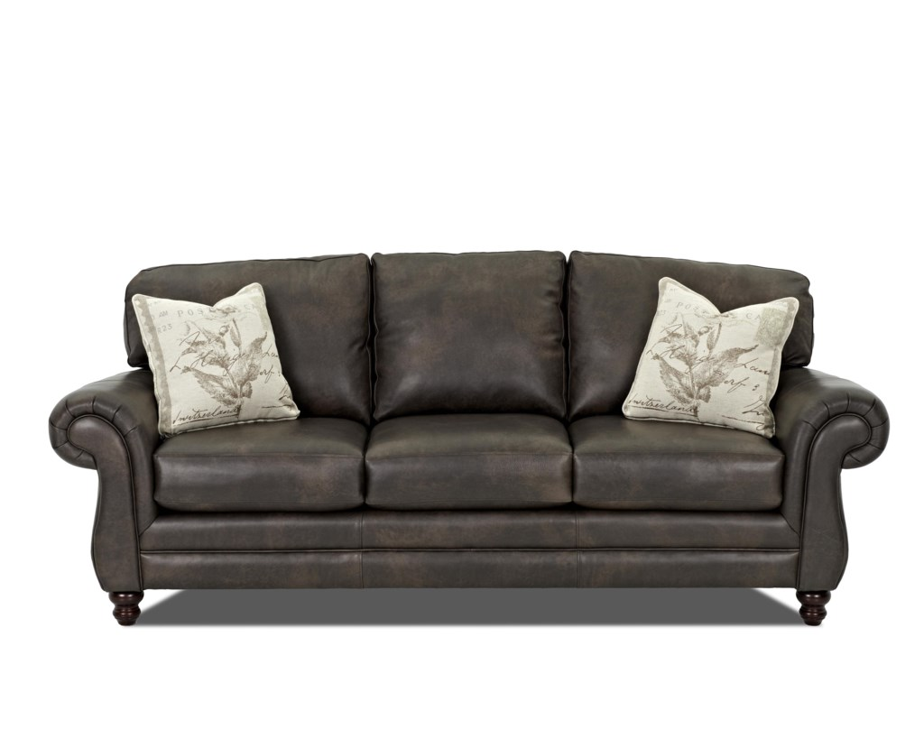 Klaussner Leather Sofa Klaussner Valiant Leather Sofa With ...