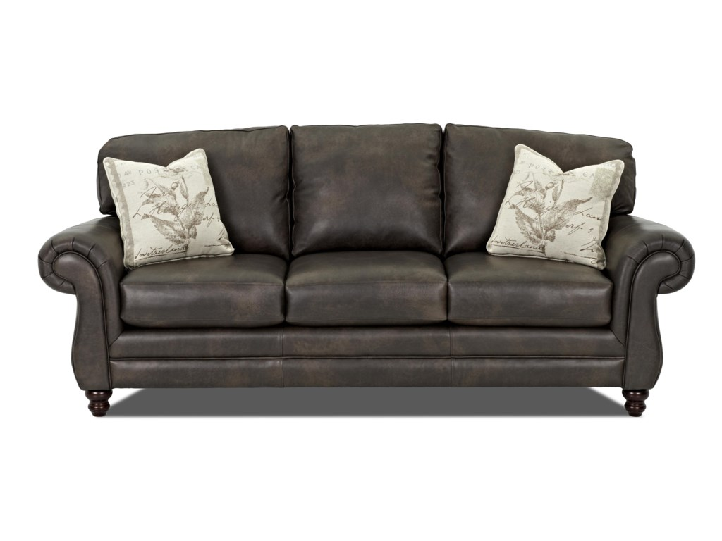 Klaussner Leather Sofa Klaussner Valiant Leather Sofa With