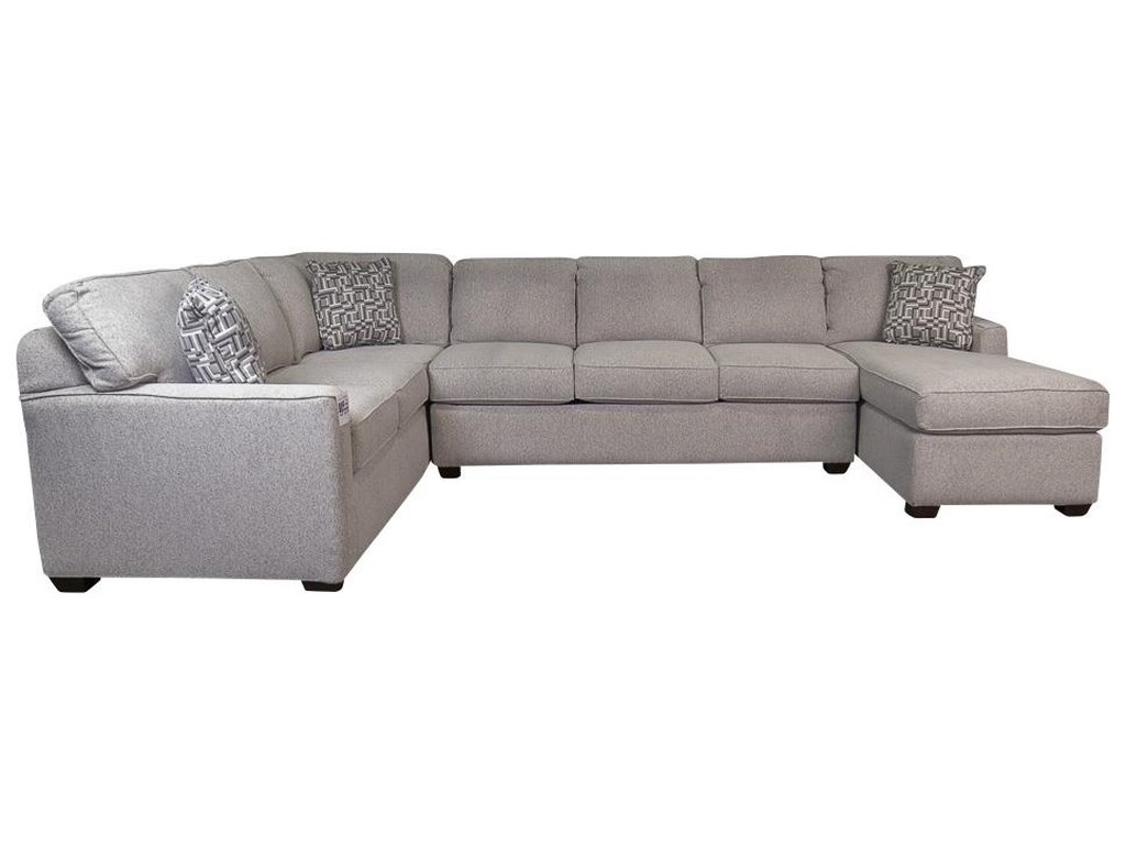 Vanessa Sectional Sofa with Accent Pillows by Klaussner at Morris Home