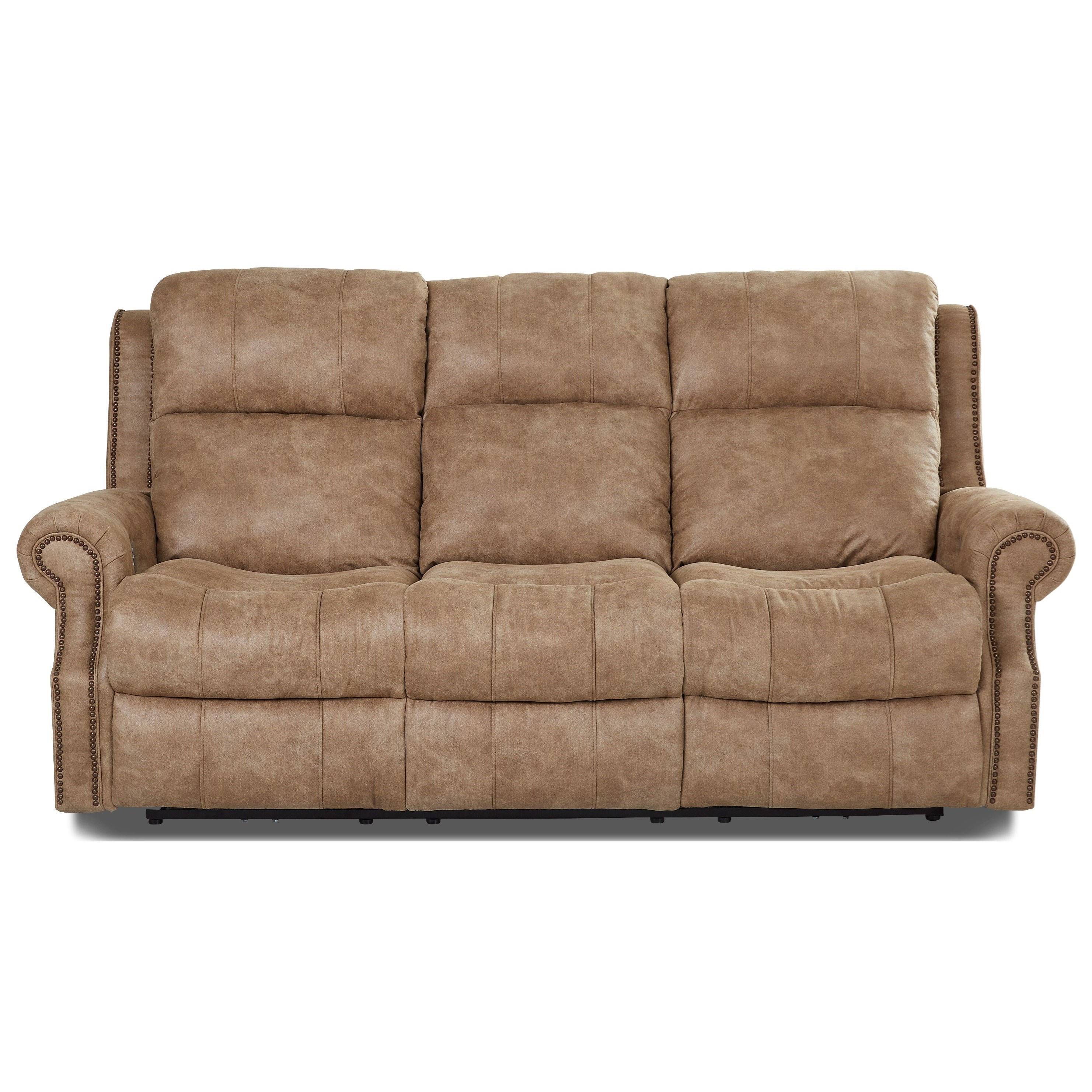 Klaussner Vivio Traditional Power Reclining Sofa with Nailheads and Power Tilt Headrest and Lumbar Support  sc 1 st  Wayside Furniture & Klaussner Vivio Traditional Power Reclining Sofa with Nailheads ... islam-shia.org