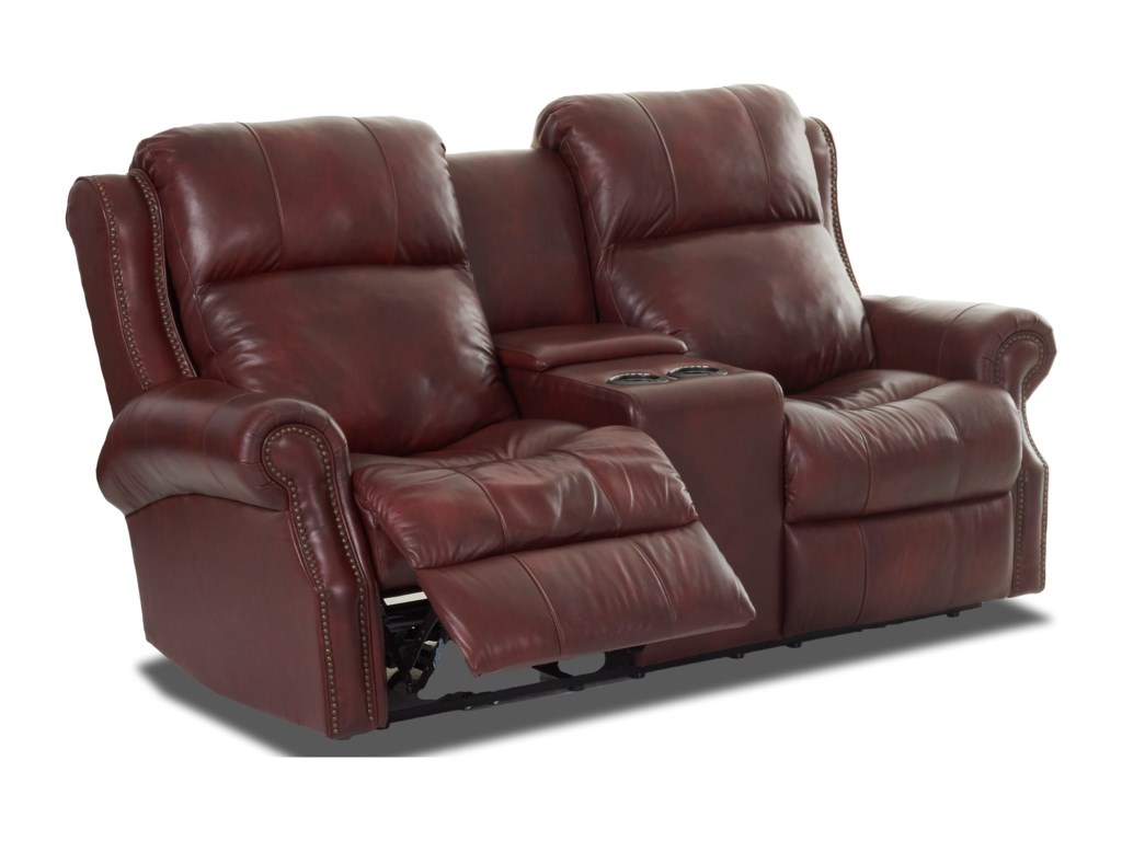 Klaussner VivioPower Reclining Love w/ Console & Pwr Head