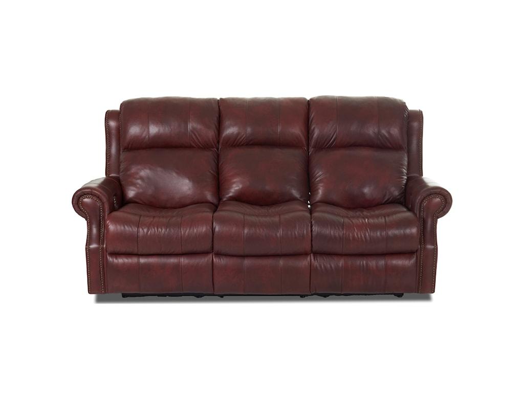 Klaussner VivioPower Reclining Sofa w/ Pwr Head & Lumbar