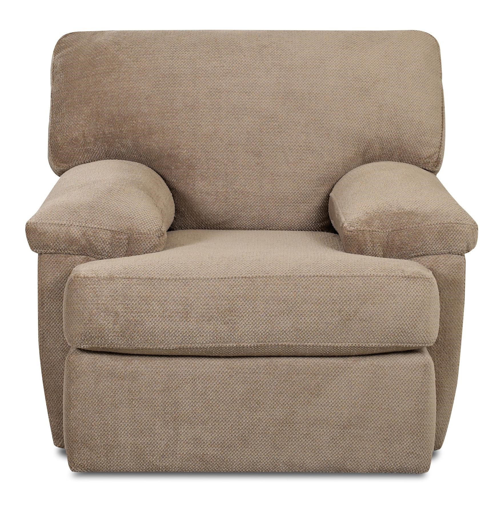 Klaussner Walton Casual Chair With Wide Pillow Arms | Olindeu0027s Furniture |  Upholstered Chairs