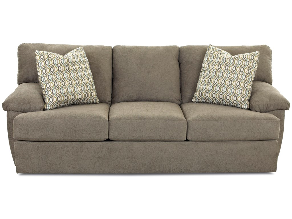 Klaussner Walton Casual Queen Inner Spring Sofa Sleeper With Pillow