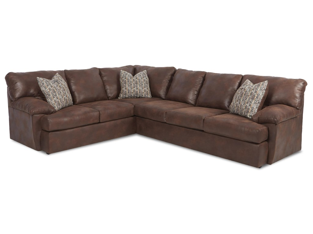 Klaussner WaltonCasual Sectional Sofa