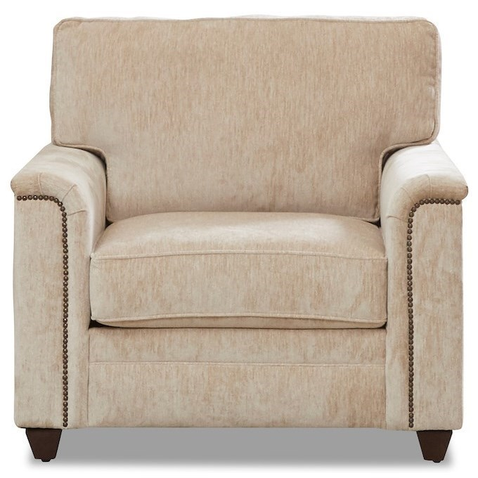 Transitional Chair with Nailheads