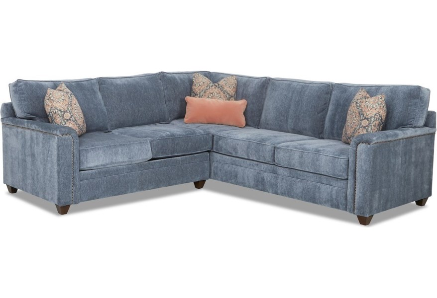 Transitional 4 Seat Sectional Sofa