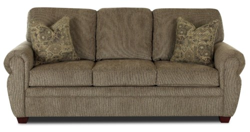 Klaussner Westbrook Rolled Arm Sleeper Sofa with Innerspring