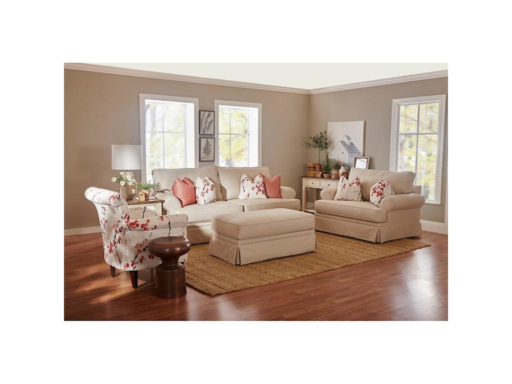 Klaussner WesterlyCasual Sleeper Sofa